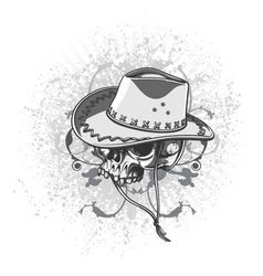 vintage t-shirt design with skull vector image vector image