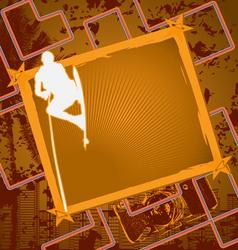 wakeboarding vintage frame vector image vector image