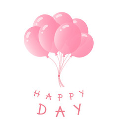 a bundle of balloons greeting card for birthday vector image