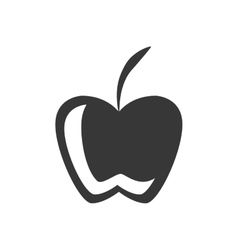 silhouette fruit apple graphic icon vector image vector image