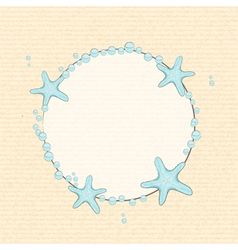 starfish and bubble background vector image vector image