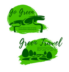 Ecotourism and go green symbol for travel design vector