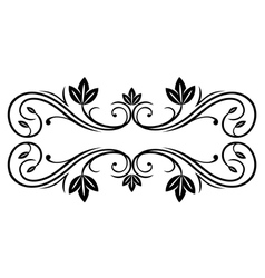Floral frame in retro style vector image vector image