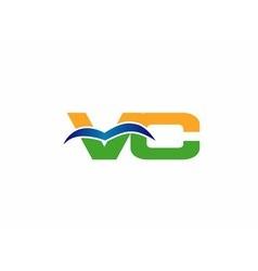 Letter V and C logo vector image