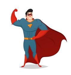 muscular man dressed in superhero costume vector image