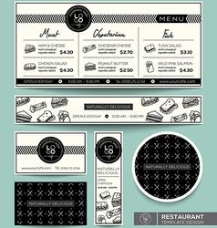 Restaurant Set Menu Graphic Design Template vector image vector image