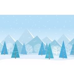 Beautiful Chrismas winter flat landscape vector image vector image