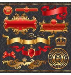 golden royal design element vector image