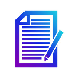 icon note contenticon of the note a copyright vector image vector image