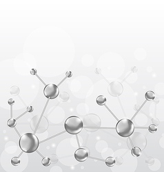 Molecular structures chain with copy space vector image