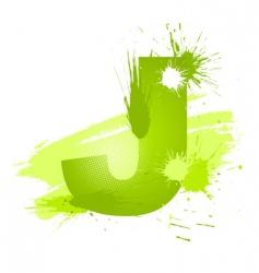 paint splashes font letter j vector image
