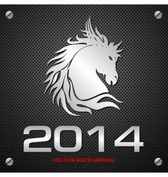 2014 Horse Background vector image