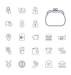 22 bank icons vector