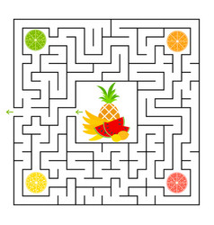 a square labyrinth collect all lobes fruit vector image