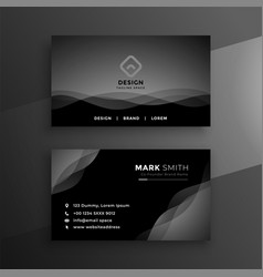 abstract black business card design vector image