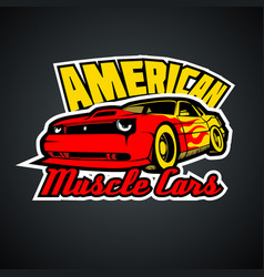 american muscle cars t-shirt print template vector image