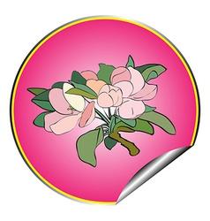 apple flower sticker purple vector image