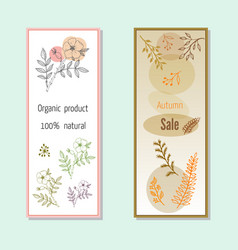 Autumn sales banners vector