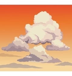 beautiful sky sunset clouds vector image