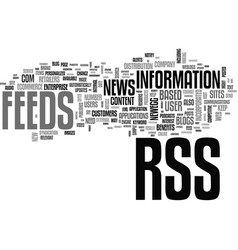 benefits of rss in ecommerce text word cloud vector image