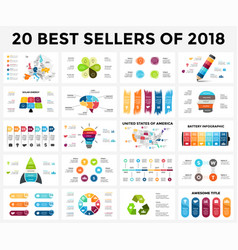 best infographic templates of 2018 presentation vector image