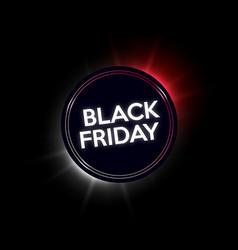 Black friday sale neon banner vector