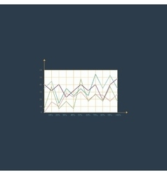 Chart flat icon vector image