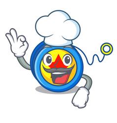 Chef yoyo character cartoon style vector
