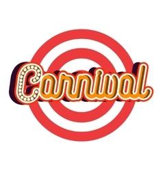 Color vintage Amusement park emblem vector