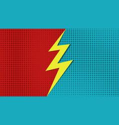 Comic versus superhero background cartoon vector