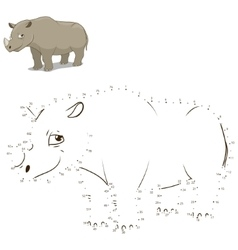 Connect dots to draw animal educational game vector