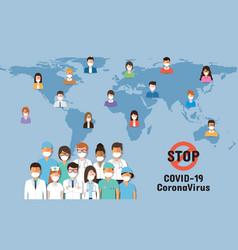 corona virus disease awearness vector image