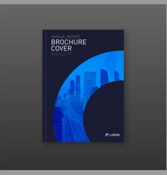 Corporate brochure cover design layout vector