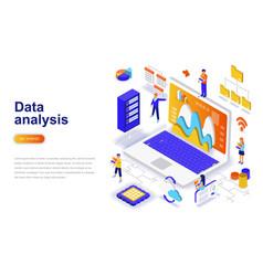 data analysis modern flat design isometric concept vector image