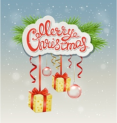 Decorative Christmas background vector image