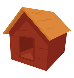 Dog house on white background vector