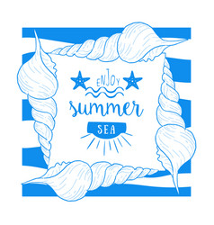 enjoy summer sea banner template summer time vector image
