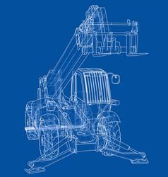 Forklift concept vector