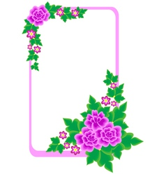 Frame with abstract flowers vector image