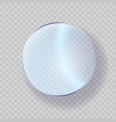 glossy glass acrylic or plastic circle badge vector image
