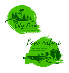 go green nature environment icons vector image