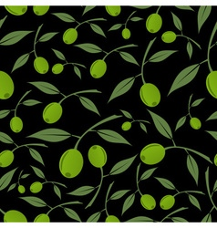 green olives natural seamless dark pattern eps10 vector image