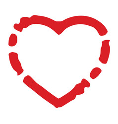 Grunge isolated heart vector