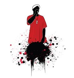 Grunge rapper vector image