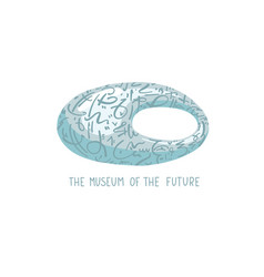hand drawing icon - museum future in vector image