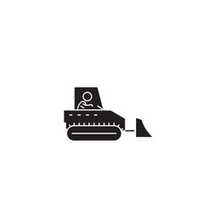 heavy machinery control black concept icon vector image
