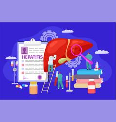 Hepatitis concept treatment vector