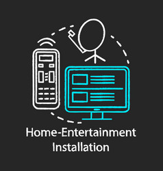 Home-entertainment installation chalk concept vector