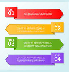 infographic template of flag four steps or vector image