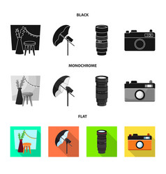 isolated object photoshoot and work logo vector image